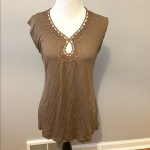 Banana Republic brown tank top.